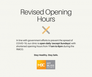 Revised Opening Hours